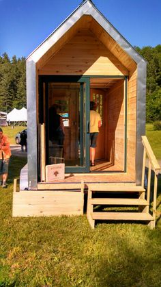 Ecovative Tiny House Designs...walls filled with micillium! Tiny House Weekend Yestermorrow..Waitsfield, Vermont June 2013