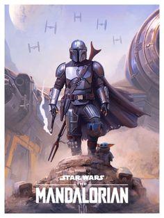 Mandalorian Poster, Mandalorian Armor, Images Star Wars, Star Wars Pictures, Cuadros Star Wars, John Rambo, Star Wars Drawings, Star Wars Tattoo, Star Wars Wallpaper