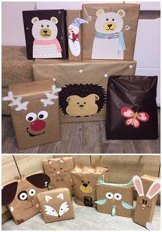 Christmas Pom Pom Crafts, Christmas Gift Box, Christmas Gift Wrapping, Christmas Decorations, Birthday Gift Wrapping, Festive Crafts, Creative Gift Wrapping, Gift Bows, Diy Gifts