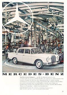 1960 Mercedes 220s advertisement
