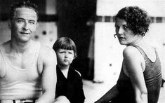 Things were going swimmingly: F Scott Fitzgerald, wife Zelda, and daughter Scottie in 1927  Photo: REX FEATURES