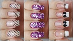 03 UNHAS DECORADAS FÁCEIS DE FAZER - Nail Art Easy | Gersoni Ribeiro Biceps And Triceps, Nail Polish, Nail Art, Nails, Beauty, Chic Nails, Nailed It, Nail Arts, Art Nails