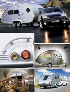 """The T@B XL takes the classic teardrop trailer concept and lifts it into a new level of luxury. T@B's (pronounced """"Tab"""") lesser models are anything but trashy but the twin-axle XL definitely rules the roost. Sleekly styled, the XL still stretches 22 feet from stem to stern and is expected to be priced in the $60K range. That is, if manufacturer Knaus Tabbert manages to emerge from bankruptcy – times are tough for the purveyors of luxo-goods."""