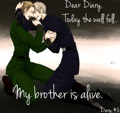 Awwwww!!! :') German brothers #Hetalia #Prussia #Germany