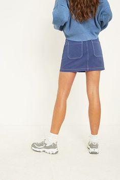 BDG Blue Carpenter Skirt