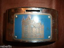 Vintage Erie County Savings Coin Bank, Chase Brass, Clearvue, Buffalo NY,