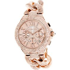 Michael Kors Women's Camille MK3196 Rose-Gold Stainless-Steel Quartz Watch with Rose-Gold Dial