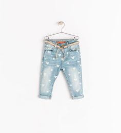 Image 1 of JEANS WITH HEARTS from Zara Liapela.com