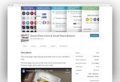Most Popular Social Media WordPress Plugins 2020 - New Template Share Icon, Most Popular Social Media, Social Share Buttons, Wordpress Plugins, Icons, Templates, Stencils, Symbols, Vorlage