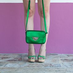 bimba y lola bag, green, metalic green bag, carteira bimba y lola, verde metalizado