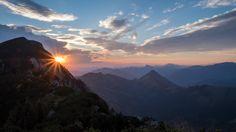 Sunrise behind Austria's deadliest summit - the Traunstein [4000x2250][OC]