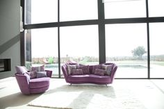 The Isabella is a fun yet elegant design that is sure to make a statement in your home; the playful curves and contemporary chrome raised legs are what stands out the most and sets this sofa apart. Valance Curtains, Bean Bag Chair, Contemporary, Elegant, Furniture, Valencia, Design, Home Decor, Money