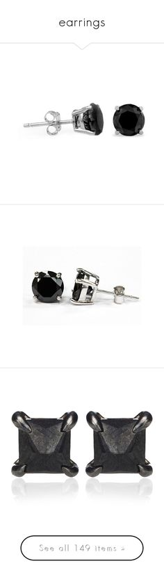 """earrings"" by no0ne ❤ liked on Polyvore featuring jewelry, earrings, accessories, jewelry - earrings, bijoux, stud earrings, black diamond jewellery, black diamond stud earrings, earring jewelry and black diamond jewelry"