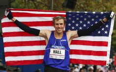 Ryan Hall, thats right, hes in that commercial with that runner listening to books on his phone. Reppin in the marathon, and hes adorable. Sup distance runners