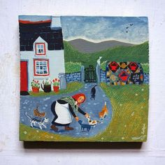 Little Welsh Quilts and other Traditions  Valeriane Leblond paints from real quilt examples.~ even more delightful.