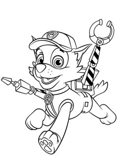Rocky With Claws Coloring Page From PAW Patrol Category Select 24652 Printable Crafts Of