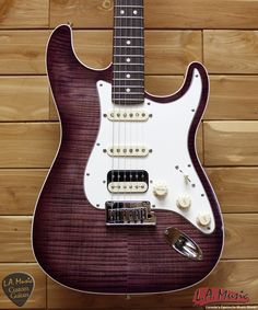 LA Music Custom Guitars - Fender Custom Shop Slab Body Stratocaster HSS Double Bound Okume Purple Burst 9231006856, $5,200.00 (http://lamusiccustomguitars.com/fender-custom-shop-slab-body-stratocaster-hss-double-bound-okume-purple-burst-9231006856/)
