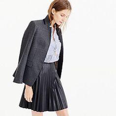 Tall faux-leather pleated mini skirt