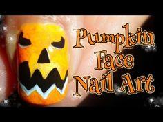 DIY Pumpkin Face ~ Halloween Nail Art Tutorial