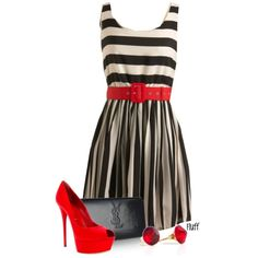 """""""red pump"""" all dressed up and no place to go in it, lol!!! but a chubby girl can dream, right?"""