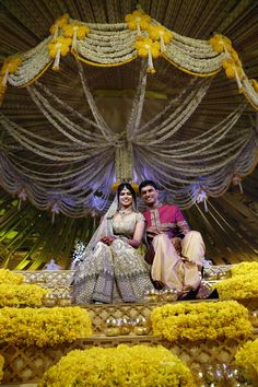 An Elegant Telegu Wedding in Hyderabad : RV & Sindhura! Marriage Decoration, Wedding Stage Decorations, Hall Decorations, Wedding Mandap, Desi Wedding, Wedding Bride, Wedding Venues, Wedding Dresses, Wedding Entrance