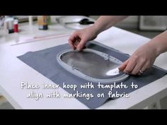 Tutorial on the BERNINA 720 and 770 QE: First steps when embroidering - YouTube