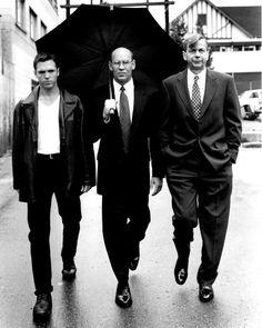 The X-Files: Nicholas Lea (as Alex Krycek), Mitch Pileggi (as Walter Skinner) and William B. Davis (as the Cigarette Smoking Man aka CGB Spender)