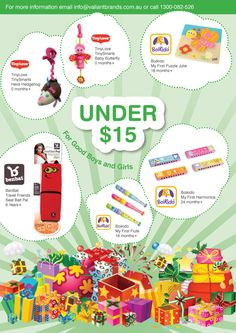 GIFT IDEAS UNDER $15  toys for newborns to 12 months to 18 months to 8 years+. to find out where to buy our gift ideas, email info@valiantbrands.com.au Newborn Toys, Newborns, Cool Girl, Boy Or Girl, Childrens Gifts, Inspirational Gifts, 18 Months, First Birthdays, Pink Blue