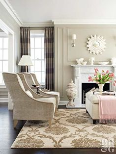 If a lighter tone is your goal, watch out for green or gold undertones. Hold the colors you're considering against a true-white paint chip to look for a rich cream with a brown base, Mary says.