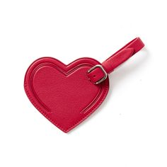 Red Small Heart Luggage Tag | Stocking Stuffer | Gifts for Her