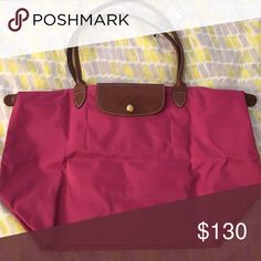 LONG CHAMP large le Pilage tote pink | large | authentic | brand new w/ tags Longchamp Bags Totes