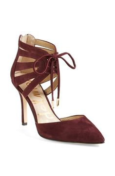Sam Edelman 'Zachary' Cutout Ankle Cuff Suede Pump (Women) available  | FW 2014 cynthia reccord