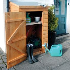 Small Outdoor Wood Storage Shed