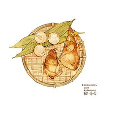 Food Drawing, Painting & Drawing, Food Illustrations, Illustration Art, Food Doodles, Dog Cafe, Food Sketch, Watercolor Food, Food Painting