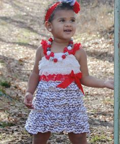 Another great find on #zulily! Red & Gray Ruffle Dress - Infant, Toddler & Girls by Under The Hooded Towels #zulilyfinds