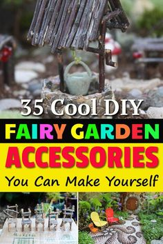 DIY Fairy Garden accessories from HOMEBNC Reused materials, easy to find items .DIY Fairy Garden Accessories from HOMEBNC Converted materials, easy-to-find items and simple instructions make these Fairy Crafts as easy to assemble as they Kids Fairy Garden, Fairy Garden Furniture, Magic Garden, Fairy Garden Houses, Gnome Garden, Twig Furniture, Fairies Garden, Family Garden, Easy Garden
