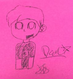 I drew a smol Dan! It came out well for a pen drawing! I really love it!