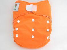 OS Heavy Duty Micro-fleece Inner cloth diaper.  Color: Carrot.