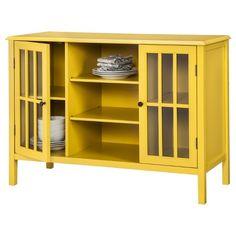 Beau Windham 2 Door Storage Cabinet With Shelves   Yellow   Threshold