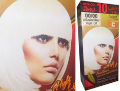 Permanent Hair Color Cream Dye WHITE Punk Goth w/ Jojobaoil / Keratin / Collagen by Farger *** Continue to the product at the image link.