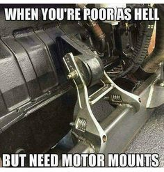 Ingenuity-created motor mounts.