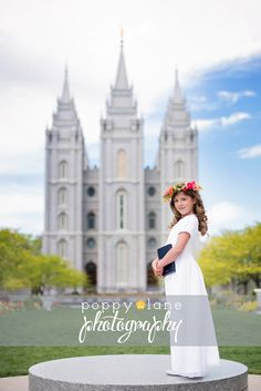 Dress for baptism Great to be 8 picture in Salt Lake City Great to be 8 picture in Salt Lake City