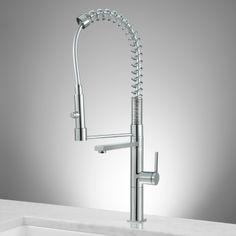 Keta High Rise Kitchen Faucet with Spring Spout - Chrome