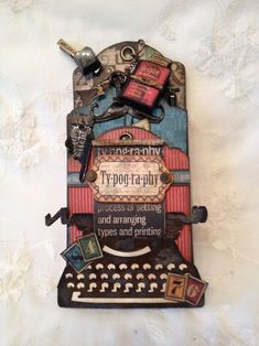 This Typography tag mini album and note holder by Anne is absolutely gorgeous! She even includes a tutorial for how to put the tags into an album #graphic45 #tags