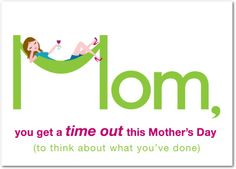 Time Out - Mother's Day Greeting Cards in Kiwi | Magnolia Press