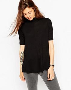 ASOS The Turtle Neck Swing Top With Short Sleeve