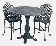 Garden And Patio Furniture, Cast Aluminum Patio Garden Furniture  Basketweave Bistro Set This Is A