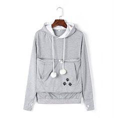 239c4f2463160 Hot Price 2017 New Cartoon Hooded Hoodies Lover Cats Kangaroo Dog Hoodie  Long Sleeve Sweatshirt Front Pocket Casual Animal Ear Hoodie 020