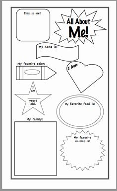 Triangle Inequality theorem Worksheet Lovely All About Me Worksheet Kindergarten the Best Worksheets All About Me Eyfs, All About Me Crafts, All About Me Preschool, All About Me Activities, Free Preschool, Preschool Lessons, Kindergarten Worksheets, Kindergarten Prep, Preschool Themes