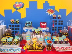Spiderman and Batman Birthday Party Ideas | Photo 16 of 20 | Catch My Party